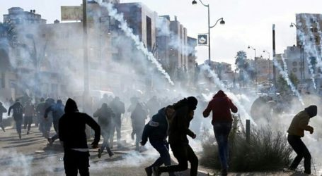 Palestinian Youths Throw Stoned Israeli Forces with Stones