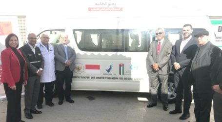 Indonesia Donates Medical Transportation for Palestinian Refugees in Jordan