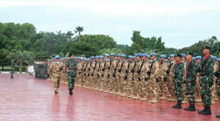 Indonesia Sends 175 Soldiers to UN Peacekeeping Mission in Congo