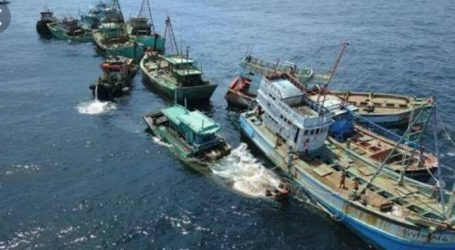 Indonesia Capture Five Foreign Vassels in Natuna Waters
