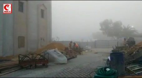 Indonesian Hospital Volunteers in Gaza Still Work in the Midst of Cold and Foggy Weather