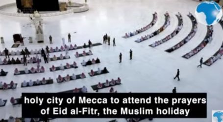 Muslims Perform Eid Prayers at Grand Mosque and Nabawi with restrictions