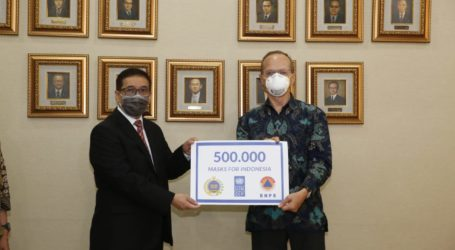 Indonesia Receives 500 Thousand Masks from UNDP