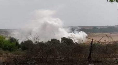 Israeli Forces Fire Smoke Bombs in Central Gaza