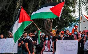 Palestinians Rally Against Israeli Anexation and Normalization Agreement
