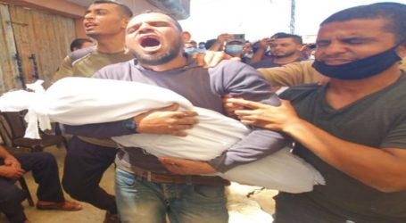 Thousands of People Mourn the Bodies of 3 Siblings in Gaza