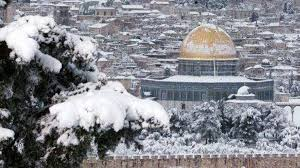 Al-Aqsa Mosque Covered by Snow