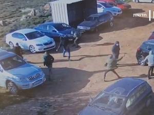 Israeli Settler Caught on Camera Damaged Palestinian Workers Car