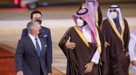 Saudi Crown Prince and King Abdullah II Jordan Meet in Riyadh