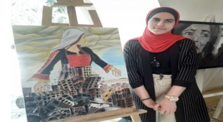 Dozens of Artist Participate in An Exhibition to Express Extent of Israeli Aggression Against Gaza