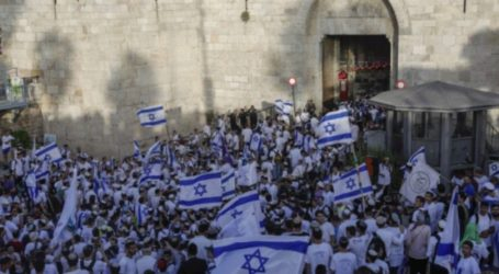 Israeli Occupation Prepares to Protect Israeli Flags March in Jerusalem