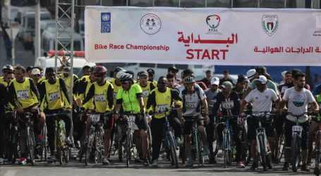 Cycling Race Held in Gaza