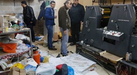 Israeli Forces Destroy 11 Palestinian-owend Printing Presses and Bookstores