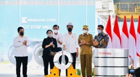 President Jokowi Inagurates New Technology Steel Factory Owned PT Krakatau Steel