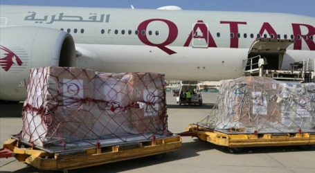 The 3rd Qatari Plane Carrying Humanitarian Aid Lands in Afghanistan