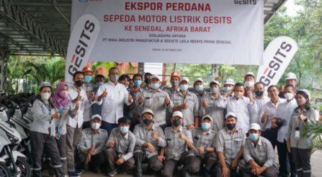 "Indonesia Export ""GESITS"" Motorcycles to Senegal"