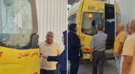 Israeli Occupation Targests Bus Carrying Palestinian Children in Qalqilya