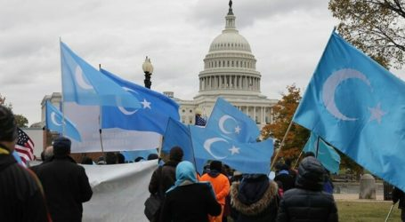 Uyghurs in US Hold Demonstrations as China Celebrates Independence