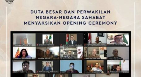 Foreign Ambassadors Watch the Opening of Papua PON 2021