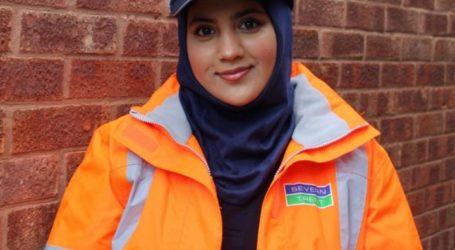 British Muslim Severn Trent Worker Designs First PPE Headscarf